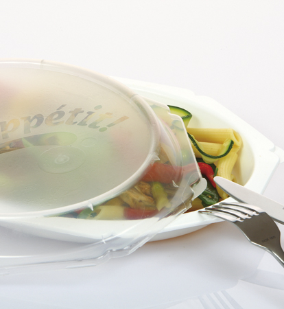 Rescaset: covered dish with compartments