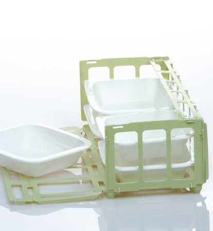 Les Repas Santé: packing crate made from recycled materials