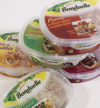Bonduelle: translucent lids for pre-packaged salads